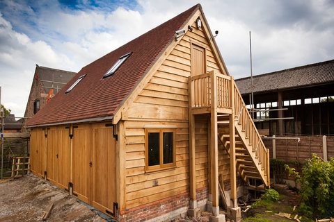Timber framed garages
