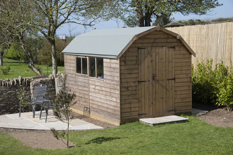 Oak framed garden shed