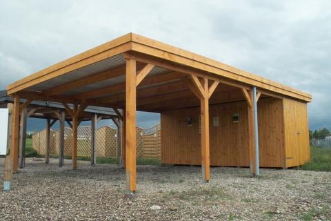 modern oak garage